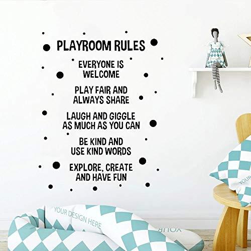 Pegatinas de pared para sala de juegos Calcomanas de vinilo para pared de habitacin de nios Decoracin familiar Dormitorio de sala de juegos