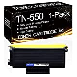 1 Pack TN-550 Black TN550 Compatible Toner Cartridge Replacement for Brother HL-5240 HL-5250DN HL-5250DNT HL-5270DN MFC-8370 MFC-8460N MFC-8670DN DCP-8060 DCP-8065DN Printers.