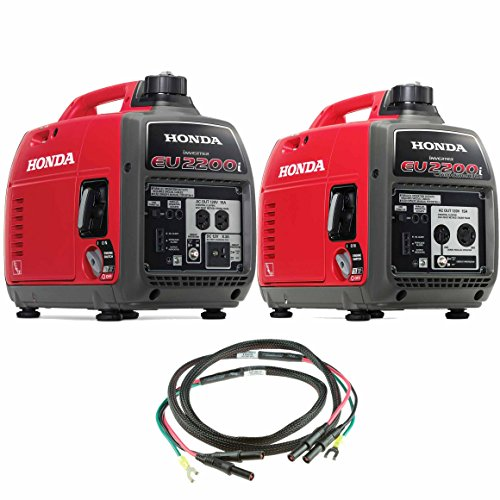 Honda EU2200i 2200W Portable Inverter Generator w. Companion and Parallel Cables