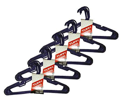 Set of 40 Tuff! Brand Light Blue Full-Sized Clothing Hangers
