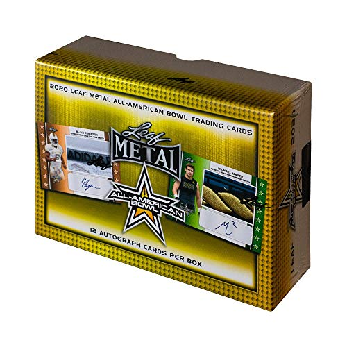 2020 Leaf Metal All-American Bowl Football Hobby Jumbo Box