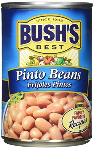 Bush's Best Pinto Beans -16 oz cans (Pack of 6)