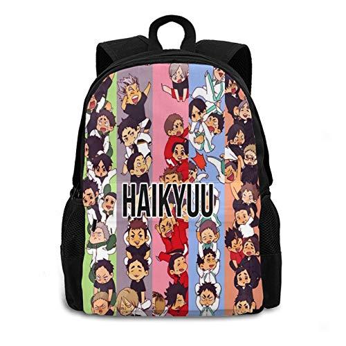 xiaoxiaoshen Haikyuu Backpack,Boys Girls Backpack for School Travel Daypack Gift,Laptop Backpacks