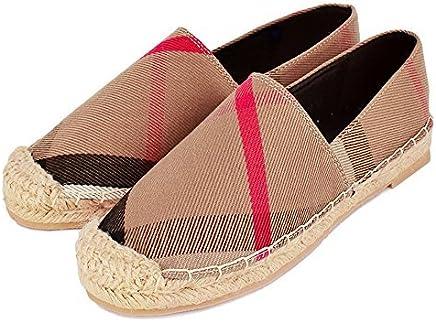 Tengyu Womens Espadrilles Flats Original Slip On Loafer Shoes Classic Canvas Comfort Alpargatas (US6=