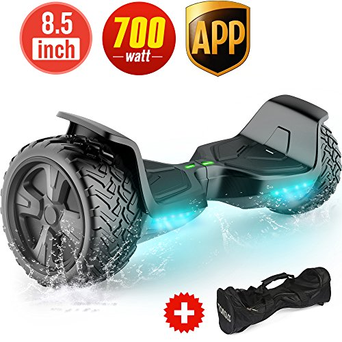TOMOLOO Hoverboard with App and LED Lights Two-Wheel Bluetooth Self Balancing Scooter...