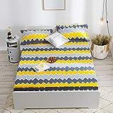 JINGMAN Tagesdecken wasserdichte Abdeckung Gedruckte Bettdecke Protector Atmungsaktive Soft Single Double Bed, Farbe 7,2pcs Kissenbezüge