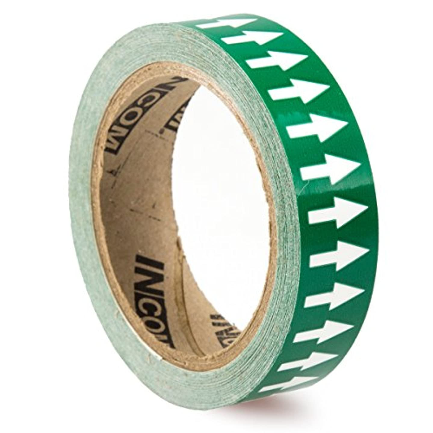 Accuform Signs RAW451GNWT Vinyl Directional Flow Arrow Tape, White Arrow on Green, 1