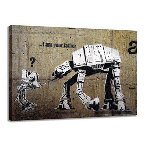 Pinturas Pop Art Banksy YO SOY TU PADRE Cuadros Impresiones En Lienzo Arte Abstracto Moderno Banksy Graffiti Pinturas Carteles Arte De La Pared Home Office Decor - Sin Marco,45X60cm