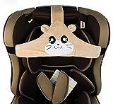 MINGZE Soporte de Cabeza de Asiento de Coche de bebé niño, posicionador de sueño Seguro y Acogedor de Coche, cinturón de sujeción de Asiento de Seguridad Ajustable, cinturón de Seguridad (Marrón)