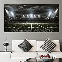 キャンバスペインティング アメリカンフットボールスタジアムのレンダリングキャンバスは、壁の家の装飾にリビングルームのポスターの画像モジュラー絵画を印刷します 60x90cm