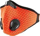 Staubmaske Atemmaske Mesh Mundschutz Mundmaske 5-lagigem Filter Waschbar Staub Schutz Maske Ersatzfiltern Anti Pollen Allergie Mit Ventil Motorrad Radsport 4soldOrange