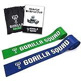GORILLA SQUAD フロスバンド 2本セット 使い方マニュアル&キャリーバッグ付 フロッシングバンド コンプレ フロス 筋膜リリース リカバリ (グリーン&ブルー)