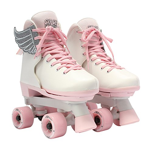 Circle Society Classic Adjustable Indoor and Outdoor Childrens Roller Skates - Classic Pink Vanilla, 3-7 US
