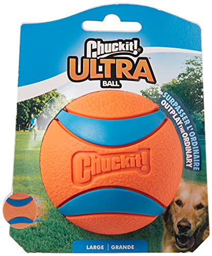 Chuckit! 3-inch Ultra Ball, Large, Multicolor,...
