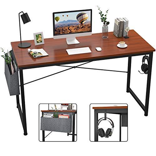 LLY Escritorio de la Oficina de 47 Pulgadas del Escritorio de la Oficina del Escritorio de la Oficina del hogar, Mesa Moderna del Ordenador portátil del Estilo Simple con el Almacenamiento