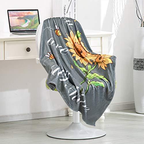 VERTKREA Manta de franela con girasoles You are My Sunshine suave mantas de 40 x 50 pulgadas de felpa y acogedoras mantas ligeras para niñas, niños, bebés, mujeres, cama, sofá, viajes, camping