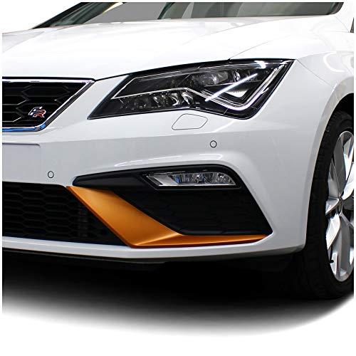 Folie Dekor für Spoiler Flap Wing Stoßstange Front Splitter Selbstklebend Passgenau Kfz Auto Zubehör (Kupfer Matt, Facelift (D049))