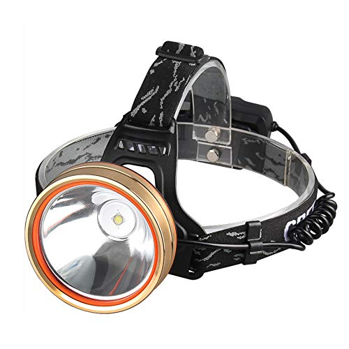 Faro luminoso de carga de lámpara de la luz de 3000 metros montado cabeza del sensor de largo alcance impermeable caza linterna LED Yediao