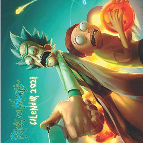 RICK AND MORTY calendar 2021: 16 months calendar with 17 awesome colorfull photography