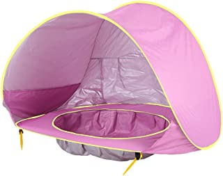 Lazapa Beach Tent for Baby - Beach Shade Sun Protection with UPF 50 + Beach for Camping Hiking with Large Volume
