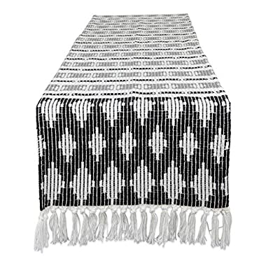 DII CAMZ11274 Southwest Table Runner, Black/Gray