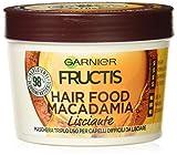 Garnier Fructis Hair Food - Máscara 3 en 1 con fórmula vegana, 390 ml Macadamia