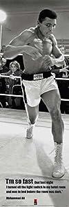 Pyramid America Muhammad Ali So Fast Quote Cool Wall Decor Art Print Poster 12x36