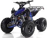 X-PRO 125cc ATV Quad Youth 4 Wheeler Adults ATVs Quads Middle Size 4 Wheelers (Blue)