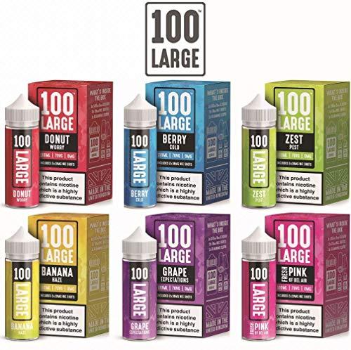 100 ml großer 100 Saft E Liquid Premium Shortfill Vape Saft 0 mg 70/30 alle Geschmacksrichtungen