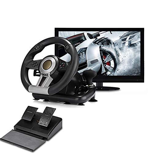 Volant et pédales de course - Support PC, PS3 / PS4 / X-ONE, jeu sur ordinateur, simulation de volant pour simulation de conduite automobile, PXN-V3