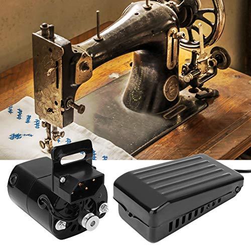 Zouminyy Máquina de coser Kit de motor y pedal Juego de piezas de máquina de coser doméstica 180W(EU 220V)