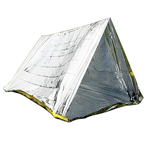 2PCS Emergency Slapen Tent, Ultralight Waterproof Thermal Survival Mylar Cover met Heat Retention voor Camping, Hiking & Emergency Shelter