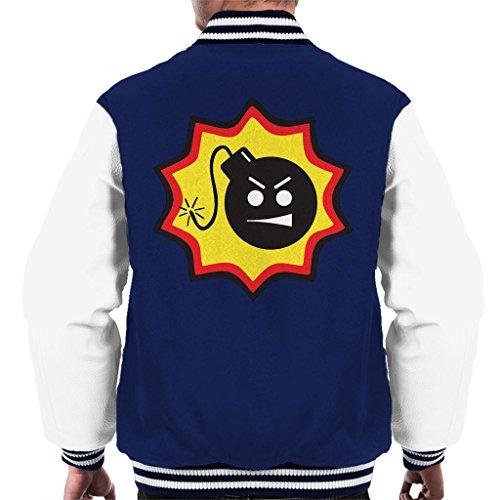 Cloud City 7 Ernstige Sam Bomb Logo Varsity Jacket voor heren