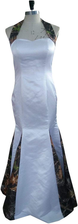 Angel Bride 2015 White Camo Wedding Dress With Long Detachable Train Strapless