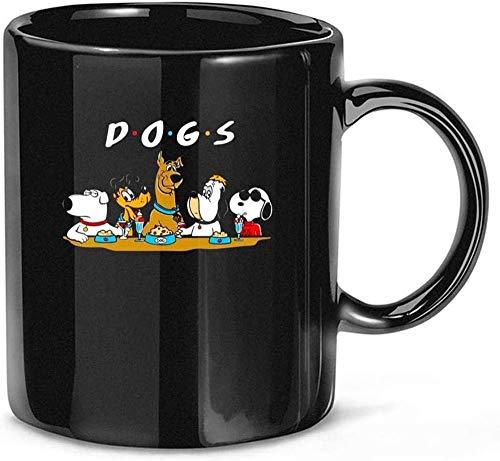 N\A Amigos Perros #Snoopy #Scooby Doo Película Dibujos Animados Cerámica Regalo Tazas Divertidas Tazas