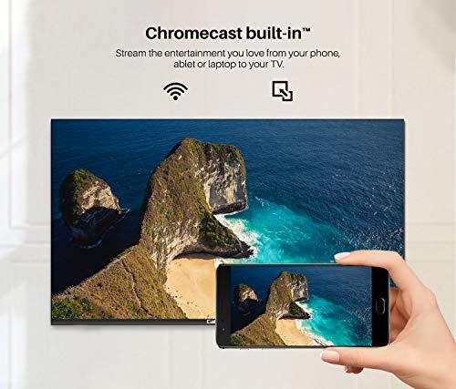 Caixun Android9.0 Smart LED TV EC43S1A de 43 Pulgadas, 4K Television, HDR10,Bluetooth,Youtube,Netflix,Prime Vídeo,Sintonizador Triple,Procesador Quad Core [Clase de eficiencia energética A+]