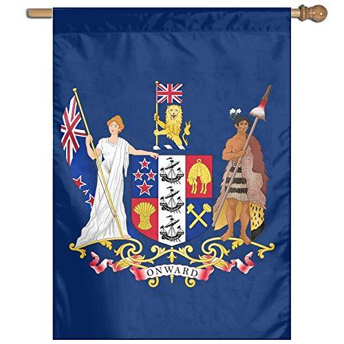 Eriesy Flag New Zealand Coat of Arms Banderas Garden Banderas Family Banderas Party Banderas 100% Polyester Fiber Vertical Family Banderas