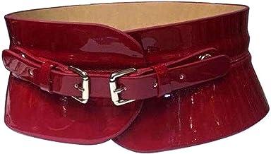 SSMDYLYM Damesontwerp Casual Retro Overjas Decoratieve Lederen Gordel Riemen voor Vrouwen Type Fashion Tailleband Belt (Co...