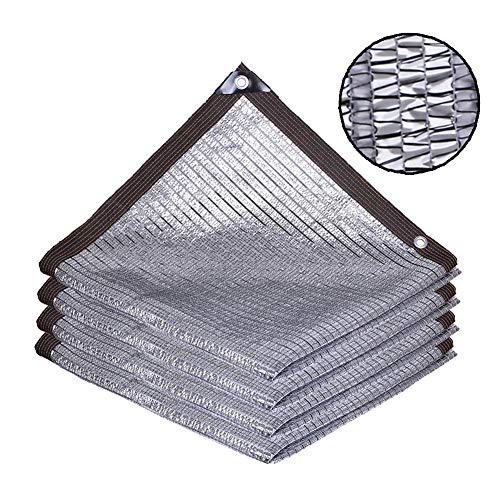 Malla de sombra, Malla de protección solar de papel de aluminio, 75% de tasa de sombreado, Red de protección solar de verano con aislamiento térmico para plantas y flores de jardín,2x3m(6.5x9.8ft)