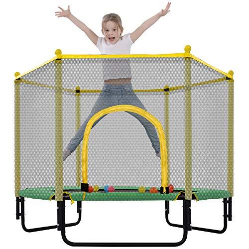 Merax 55' Mini Trampoline for Kids, 4.5FT Indoor Outdoor Trampoline...