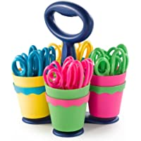 4-Case Westcott School Scissor Caddy and Kids Scissors with Anti-Microbial Protection, 24 Scissors and 1 Caddy, 5