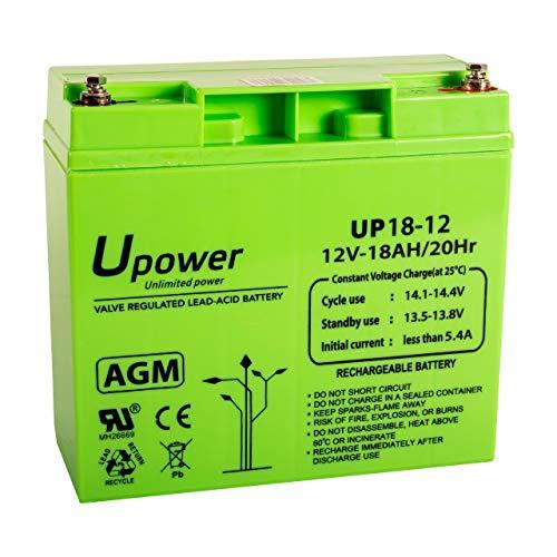 Master U-Power UP - Batería Plomo AGM 18Ah 12V