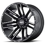 Moto Metal MO978 Razor Satin Black Wheel with Machined Finish (20x10/6x139.7, -24mm Offset)
