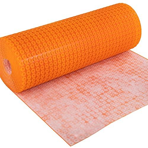 VEVOR Entkopplungsmatte aus Polyethylen Abdichtungsbahn 100x130 cm Entkopplungsmatte für Fliesen 5,5 mm dick Entkopplungsbahn 13 m² Abdeckungsfläche Orange ideal für Badezimmer Küche Wohnzimmer