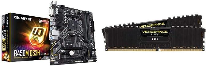 $136 » Gigabyte B450M DS3H (AMD Ryzen AM4/Micro ATX/M.2/HMDI/DVI/USB 3.1/DDR4/Motherboard) & Corsair Vengeance LPX 16GB (2x8GB) D...