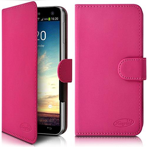 Seluxion – Funda tipo cartera universal S color rosa fucsia para Gretel...