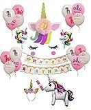Speciale: è una buona combinazione che aggiunge l'adesivo da parete, la fascia di unicorno e la fascia morbida per ragazza per unicorno per la festa di compleanno della tua ragazza, questo kit include tutto ciò di cui hai bisogno quando pianifichi un...