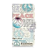 [FFANY] Galaxy Note10+ (SC-01M・SCV45) 対応 スマホケース 手帳型 カードタイプ [シンボル・ピース] 平和ロゴ 雑誌風 表紙柄 ラッピング SAMSUNG サムスン ギャラクシー ノートテンプラス docomo au スマホカバー 携帯ケース スタンド symbols 00n_163@01c