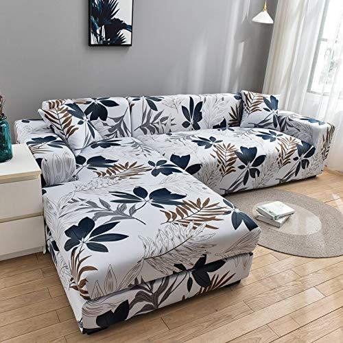 Funda de sofá geométrica Funda de sofá Fundas de sofá elásticas para la Esquina de la Sala de Estar Chaise Longue en Forma de L Sillón Sofá Funda A30 4 plazas