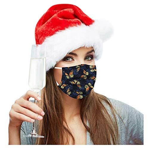 Shineshae 10PC Weihnachten Face Cover Bandanas Damen Mundschutz Schal Elastiche Multifunktion Universelle Staubdichte Und Smogwaschbare Multifunktionstuch Waschbare Atmungsaktive